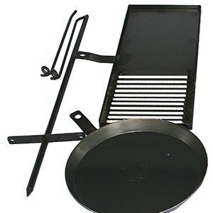 Cookstand KIT2 with 700mm BBQ, 410mm Frypan by Hillbilly