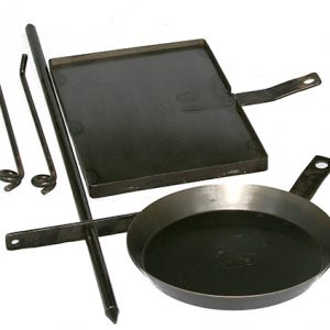 Cookstand KIT3 with 450mm BBQ, 310mm Frypan by Hillbilly